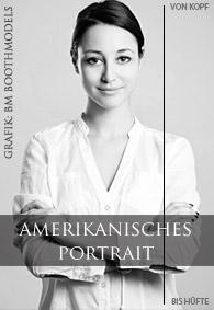 Bewerbungsbild Model und Hostess Beispiel amerikanisches Portrait