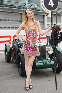 grid girl classic days Nürburgring