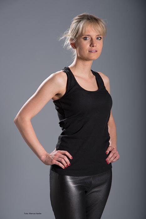 Model Sandra aus Nürnberg Haarfarbe: blond (mittel)