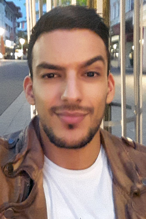 Model Mounir  aus Arnsberg  Haarfarbe: schwarz