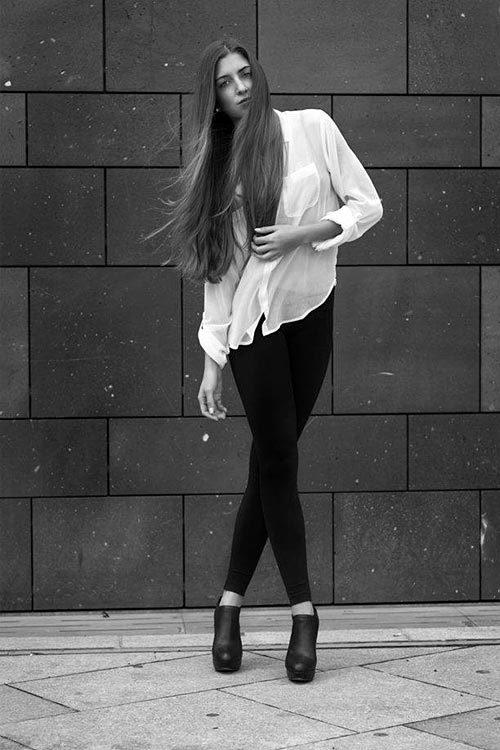 Model Amelie aus Heidelberg Haarfarbe: braun (mittel)